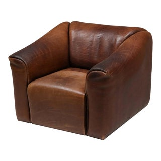 De Sede DS 47 Brown Leather Armchair For Sale
