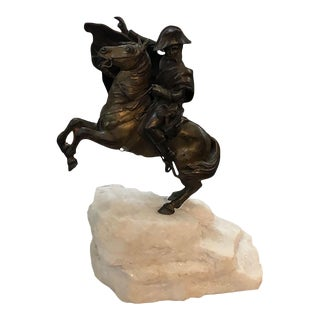 Early 20th Century Bronze Sculpture of Napoleon on Horseback For Sale