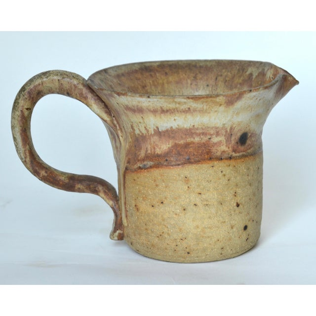 Mid-Century Modern Mid Century Studio Pottery Pitcher 1974 For Sale - Image 3 of 7