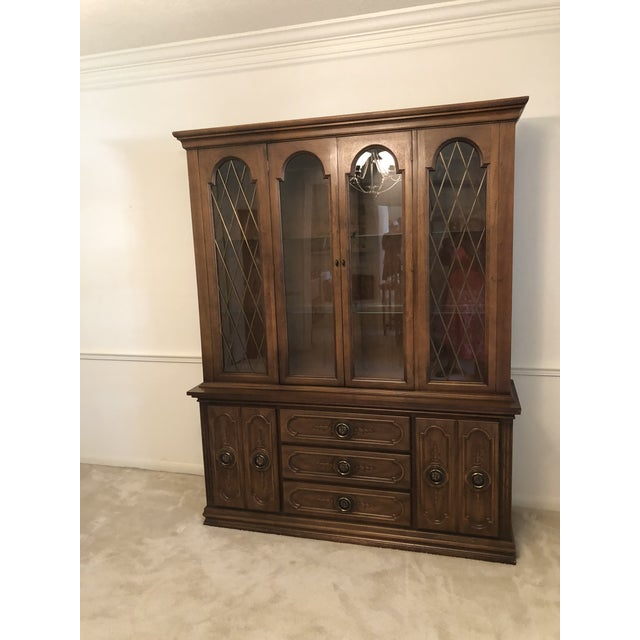 19th Century French Mahogany Style Cabinet Hutch For Sale - Image 13 of 13