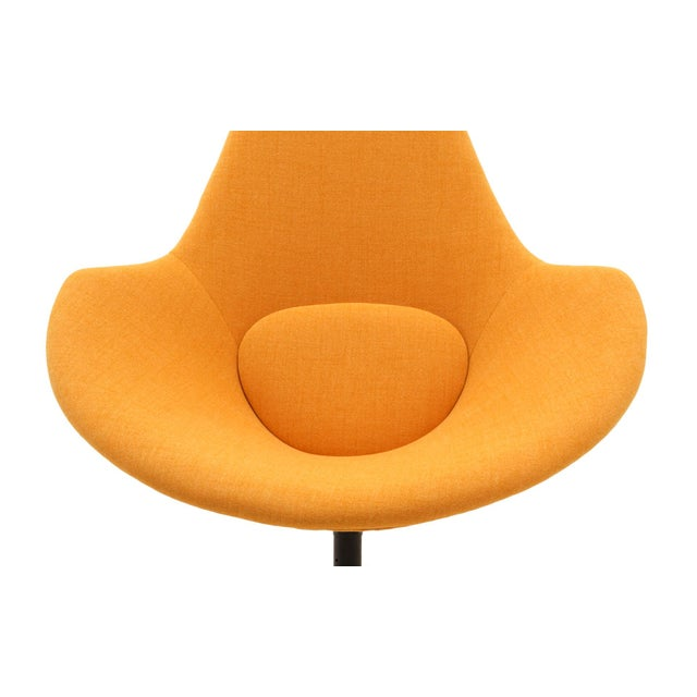 Adrian Pearsall Swivel Lounge Chair, Completely Restored, Very Rare For Sale - Image 9 of 11
