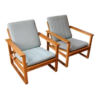 Borge Mogensen Model 2256 Lounge Chairs - A Pair For Sale