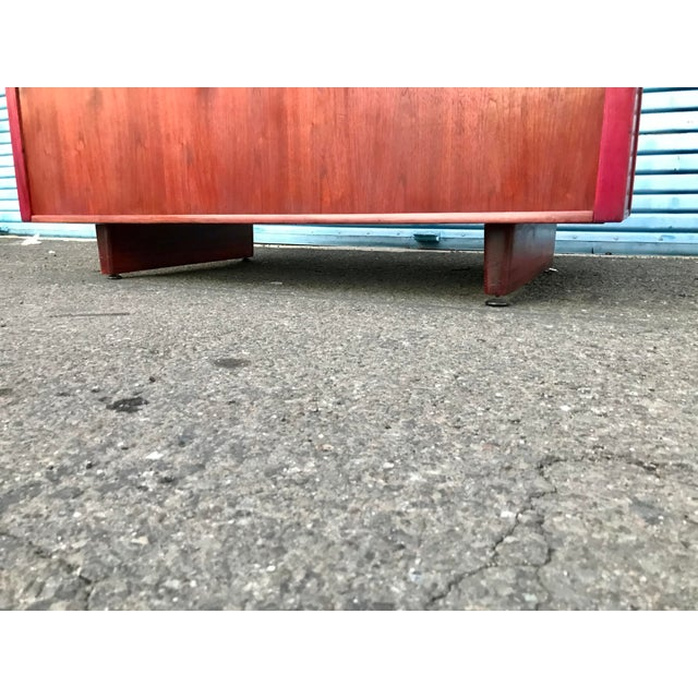 1950s Refinished 'Painted Lady' Pontoon Base Executive Desk For Sale In San Francisco - Image 6 of 13