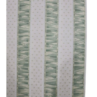 Zoffany Wallpaper Pattern Riband in Soft Green - 4 Double Rolls For Sale