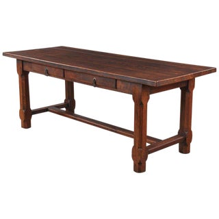 Country French Oak Farm Table or Desk, Early 1900s