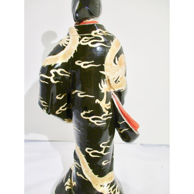 Japanese Kutani Porcelain Geisha Figure For Sale - Image 4 of 12