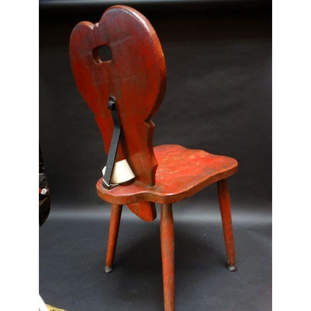 Monterey Classic Red Keyhole Chair - Image 8 of 8