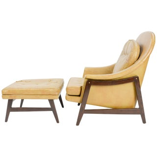 Edward Wormley for Dunbar Signature Janus Group Club Chair and Ottoman For Sale