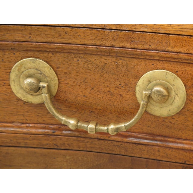 Vintage Italian 2 Drawer Walnut Commode Chest For Sale - Image 4 of 13