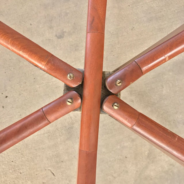 Mid Century Modern Oval Teak Spider Coffee Table Base - Image 5 of 9
