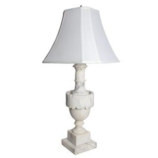 Vintage Italian Neo-Classical Solid Alabaster Lamp Preview