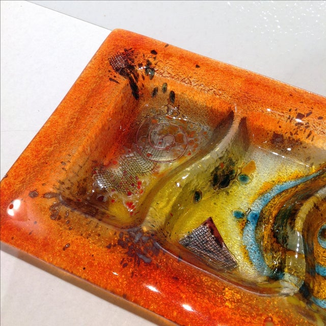 Fused Glass Art Dish - Image 6 of 10