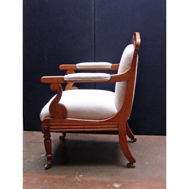 A William IV Oak Open Arm Chair For Sale - Image 4 of 6