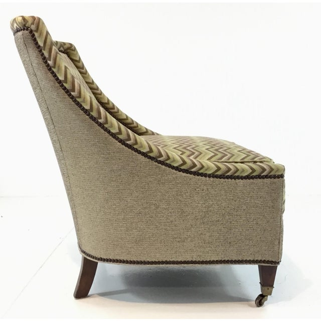 2010s Modern Drexel Heritage Green and Brown Merris Chair For Sale - Image 5 of 7