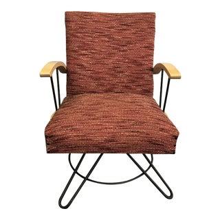 Vintage Original 1950s Mid Century Modern Swivel Rocking Chair For Sale