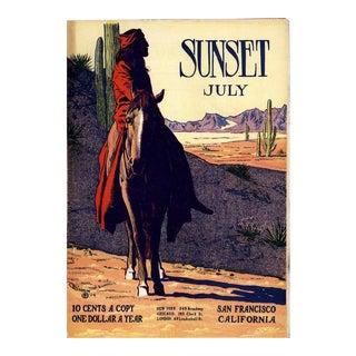 Maynard Dixon Sunset Magazine Poster For Sale