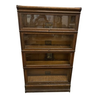 Antique Globe Wernicke Stack Bookcase For Sale