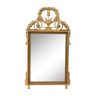 Gilt Mirror by John Widdicomb With Heart, Arrow, and Tassel Motifs For Sale