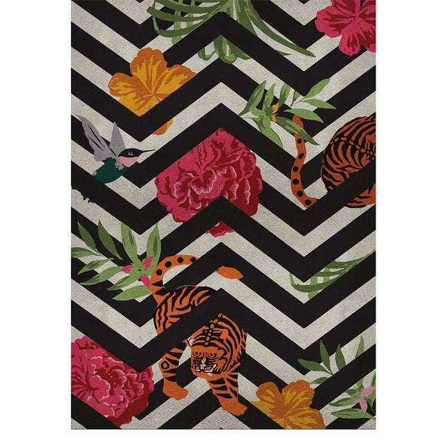 Modern Savana Botanical Rug From Covet Paris For Sale - Image 3 of 3