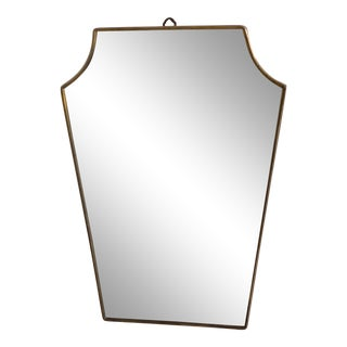 1950s Mid-Century Linear Wall Mirror, Italy For Sale