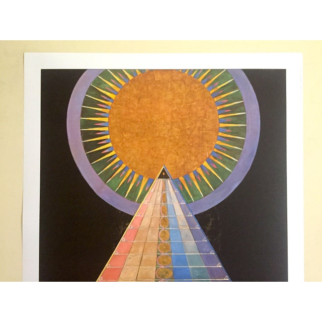 "This Hilma Af Klint Swedish Abstract lithograph print Moderna Museet exhibition poster "" Altarpiece No.1 Group X "" 1915,..."