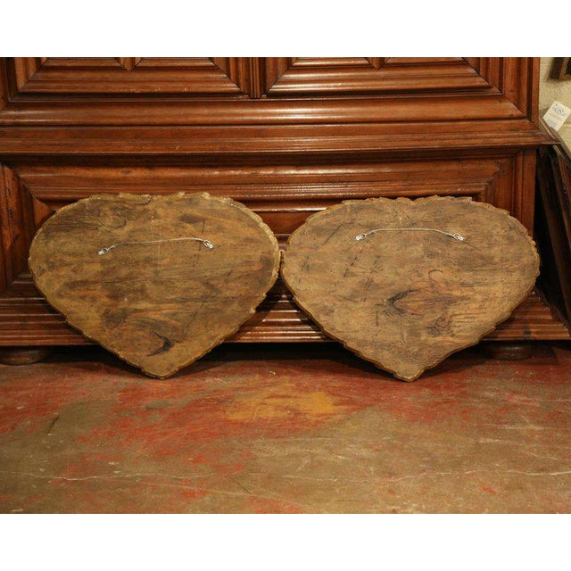 Wood Pair of 19th Century French Empire Carved Wall Plaques With Sphinx Sculptures For Sale - Image 7 of 8