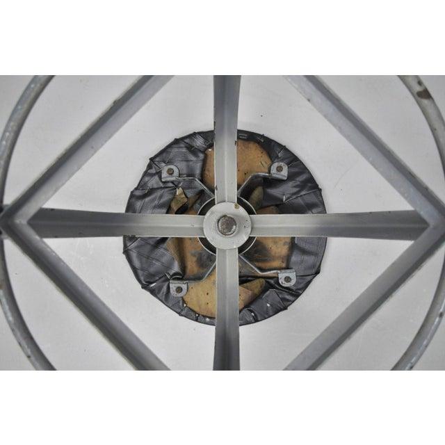 Antique American Industrial Grey Steel Metal Adjustable Work Stool For Sale In Philadelphia - Image 6 of 10