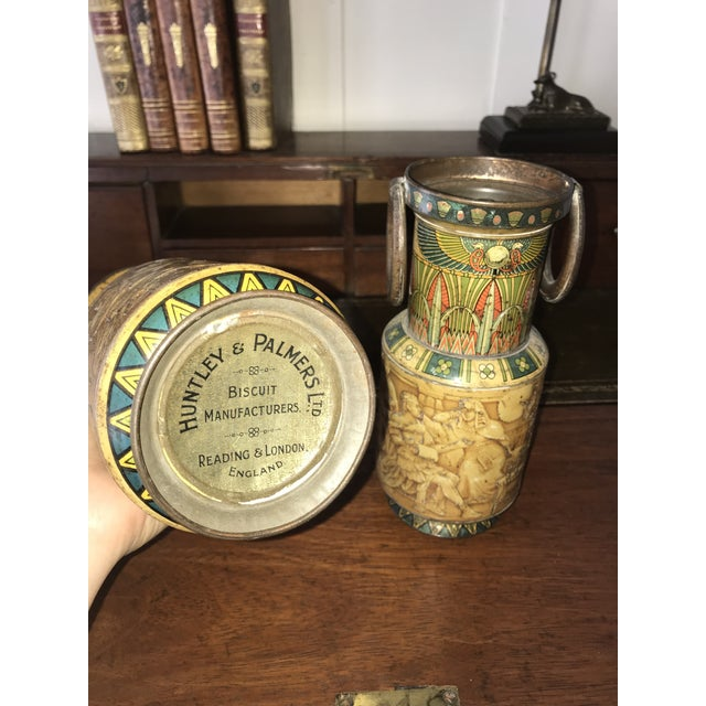 English Traditional Huntley and Palmers Decorative Biscuit Tins - a Pair For Sale - Image 3 of 4