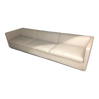 Bentley Cross Stitched Luxury E Crew Leather Sofa