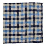 Image of Checkerboard Napkins, Pool Blue/Navy, Set of 4 For Sale