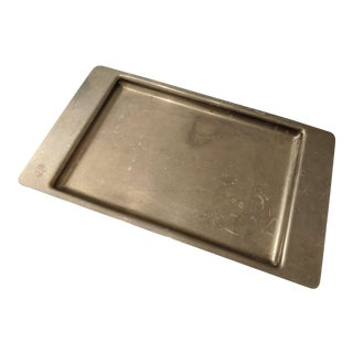 Modernist Minimalist Brass Tray by Sergio Asti for Icm (Made in Italy) For Sale