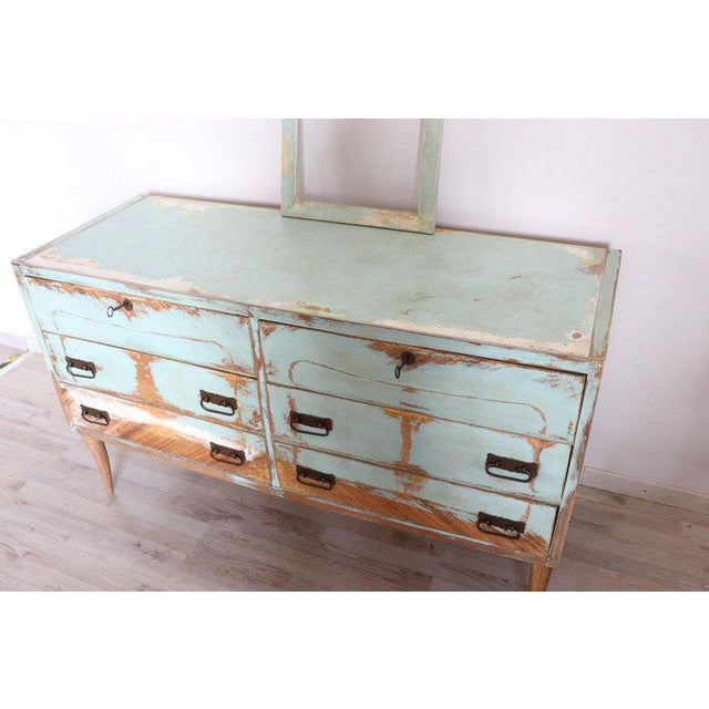 20th Century Italian Vintage Design Lacquered Commode or Chest With Frame For Sale - Image 12 of 13