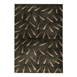 """Contemporary Hand Woven Rug - 6'5"""" x 9'4"""" For Sale"""