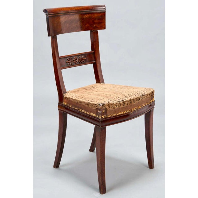 Early 19th Century Newly Upholstered French First Empire Dining Chairs - Set of 6 - Image 2 of 8