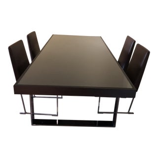 B & B Italia Antonio Citterio Glass Top Dining Set For Sale