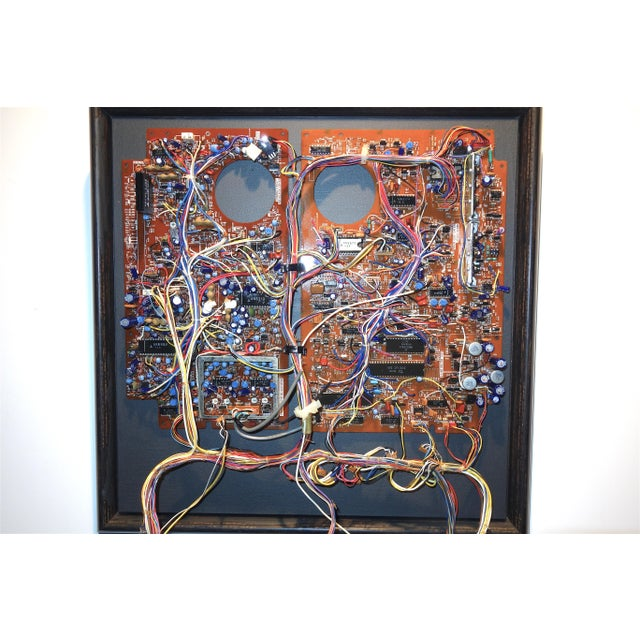 Abstract Expressionism Mid 20th Century Component Art Circuit Wall Sculpture. Bill Reiter. For Sale - Image 3 of 11