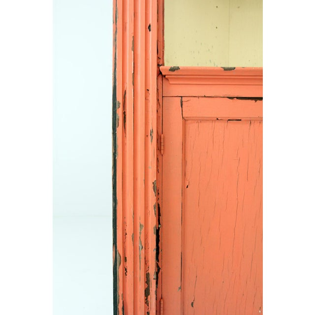 Orange Antique Corner China Cabinet For Sale - Image 8 of 9