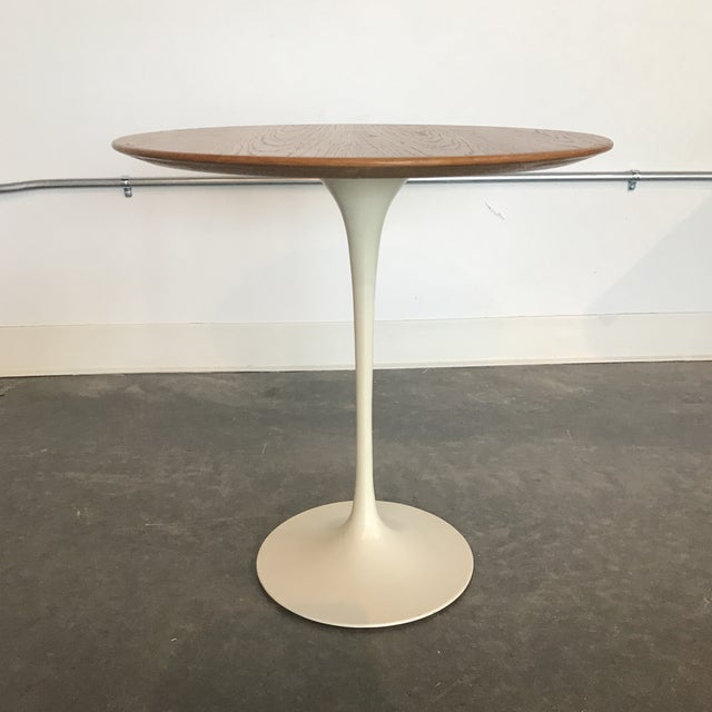 S MidCentury Modern Knoll Wood Top Tulip Side Table Chairish - Tulip table wood top