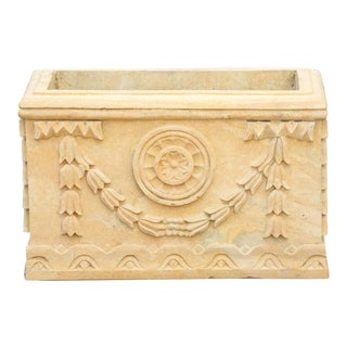 Rococo Style Carved Indo-French Planter For Sale