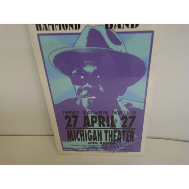 Hooker Vintage Concert Poster, John Lee Hooker For Sale - Image 4 of 6