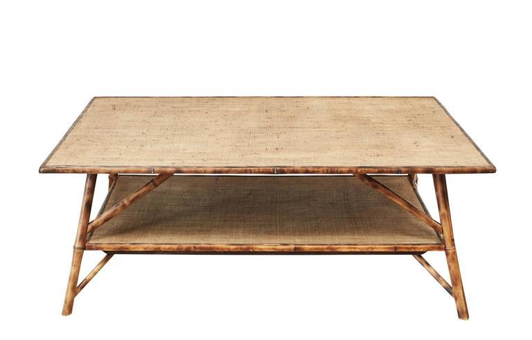 JW Custom Tiger Bamboo Coffee Table   Image 6 Of 6