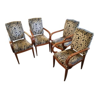Set of 4 Art Deco Dining/Side Chairs For Sale