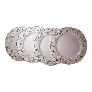 Vintage Mikasa Gold Rim Dinner Plates - Set of 4 For Sale