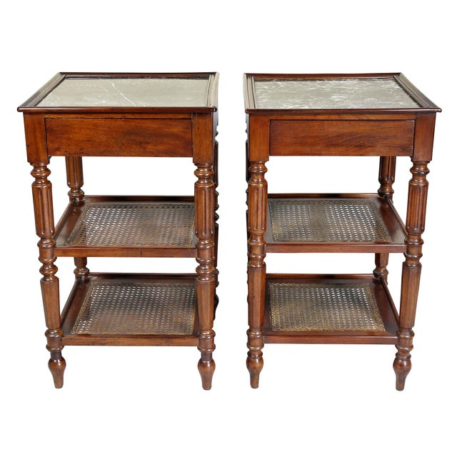 Wood Matching Charles X Mahogany End Tables - a Pair For Sale - Image 7 of 12