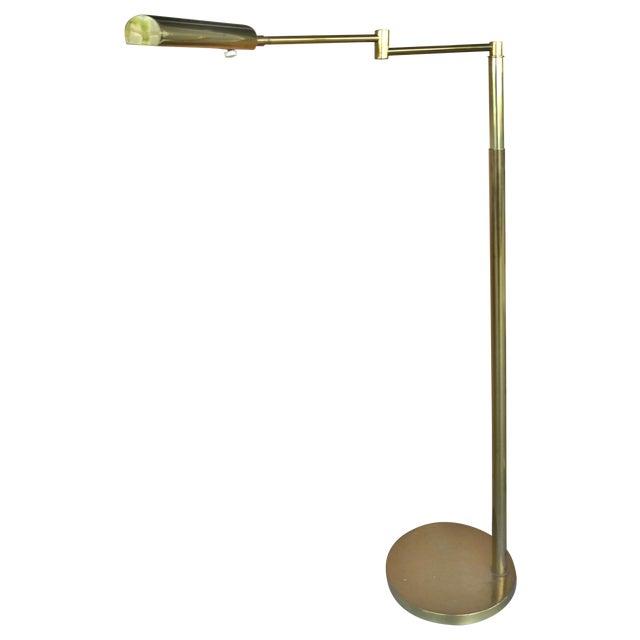 Koch & Lowy Brass Swing Arm Floor Lamp - Image 1 of 11