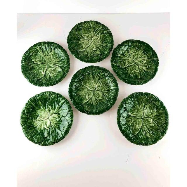 Vintage Vietri Italy Lettuce Leaf Plates – Set of 6 For Sale - Image 12 of 12