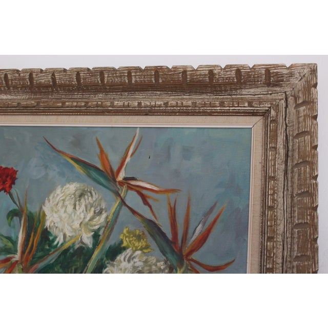 Still Life Flowers With Burgundy Cloth Painting by Ben Wilks For Sale - Image 9 of 13