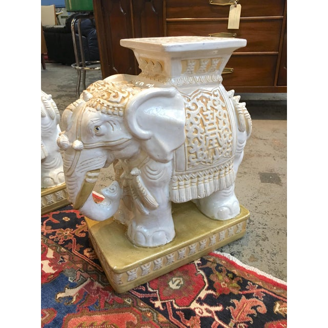 Porcelain Elephant Garden Stools - A Pair - Image 2 of 7