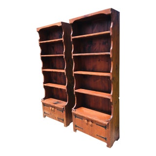Rustic Adirondack Hand Made Bookcases-A Pair For Sale