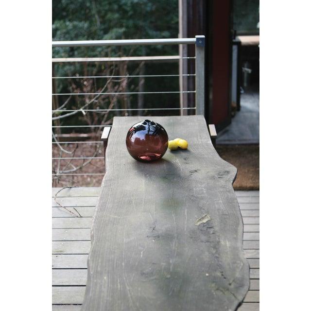 "SkLO Float Glass Vessel 8"" - Amber For Sale In San Francisco - Image 6 of 10"
